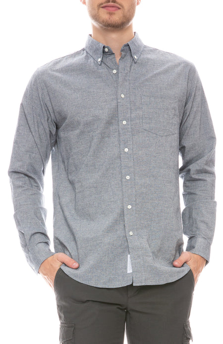 Viscose Blend Button Down Shirt
