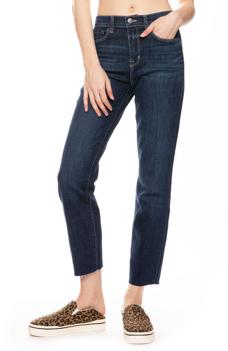 Sada High Rise Cropped Jean in Utica