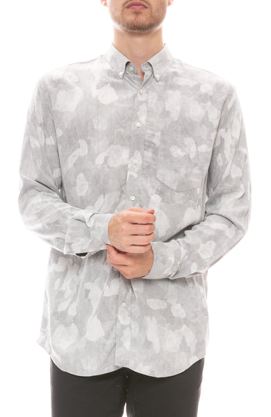 Camo Button Down Print Shirt