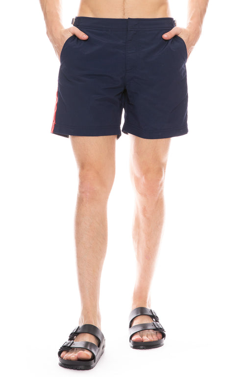 Bulldog Stripe Swim Shorts