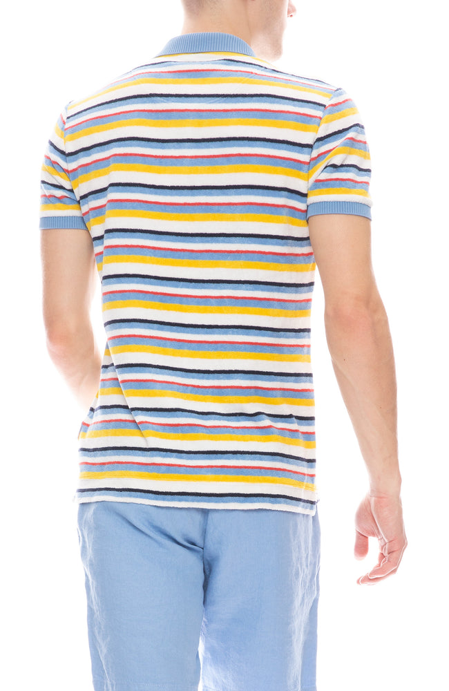 Jarrett Marine Stripe Terry Polo