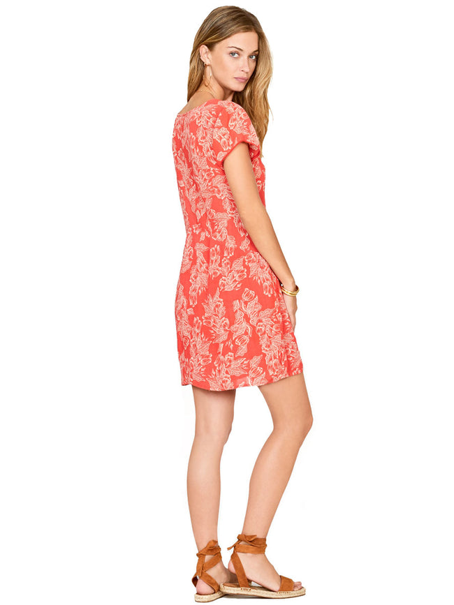 Amuse Society On The Low short sleeve floral dress