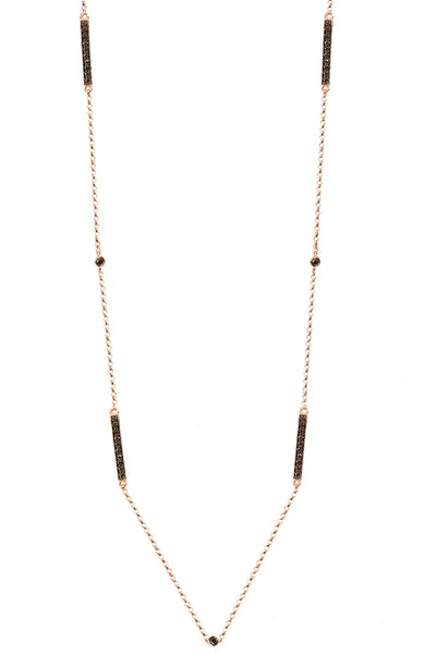 Barre Metro Two-Sided Diamond Necklace