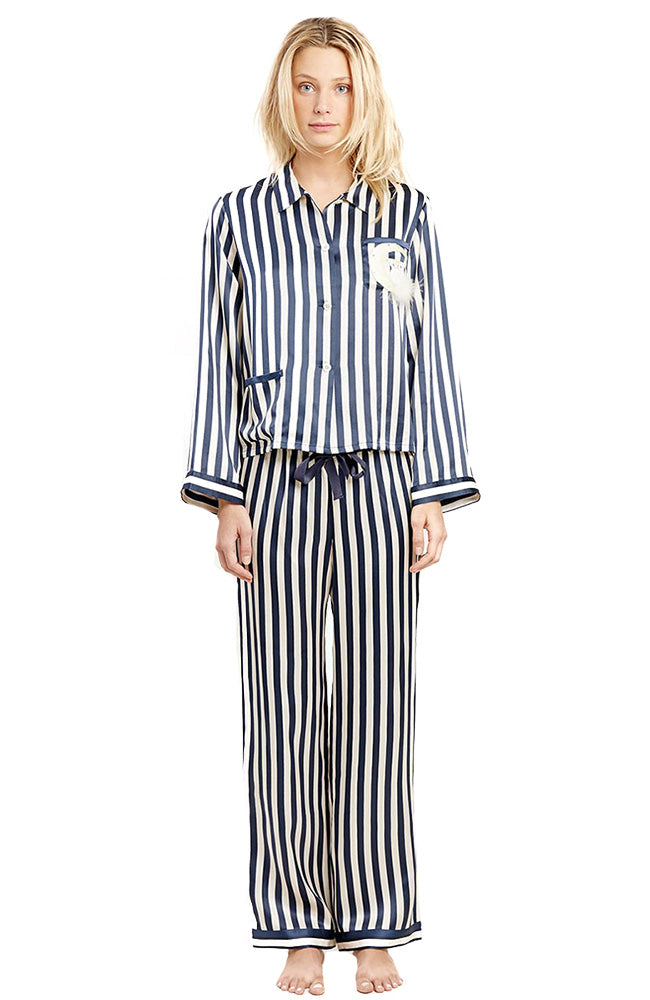 Ruthie Owl Moon Stripe PJ Shirt