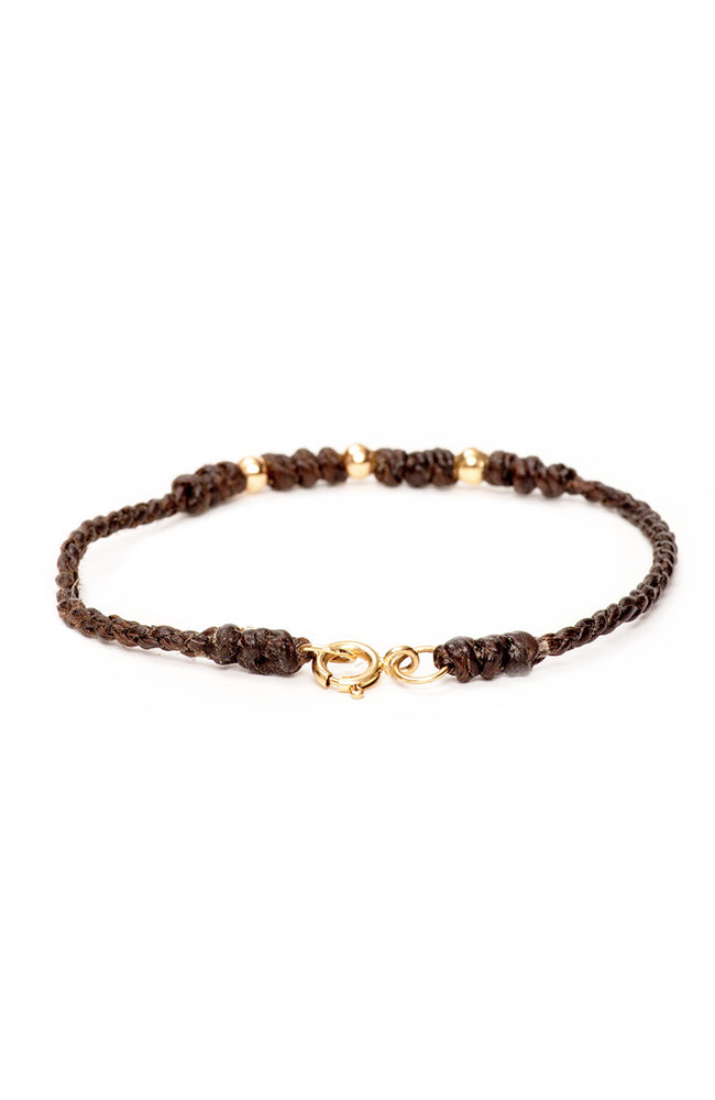 Caputo & Co Gold Bead Bracelet at Ron Herman