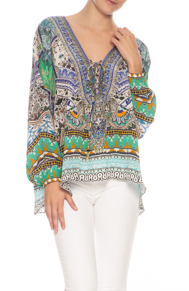 Everlasting Udaipur lace up blouse