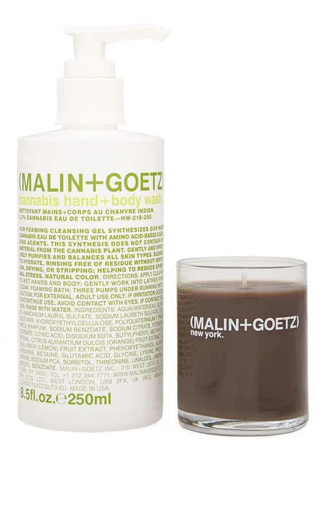 Malin+Goetz Cannabis Hand Wash and Votive Candle Set at Ron Herman