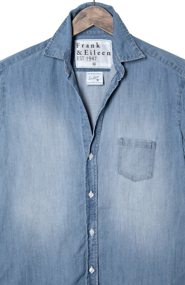 Womens Eileen Italian Indigo Denim Shirt