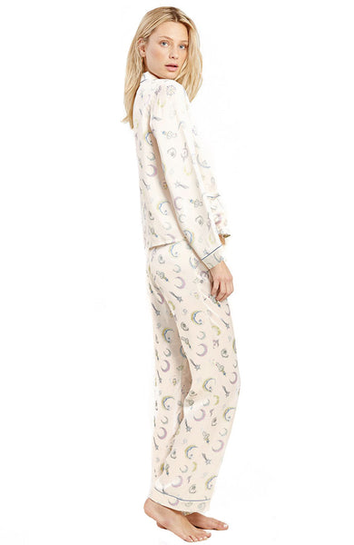 Ruthie Moon Jewels Silk PJ Top
