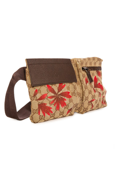 New Vintage Gucci Red Floral Fanny Pack at Ron Herman