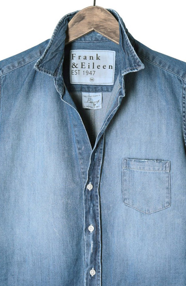 Womens Barry Stonewashed Indigo Shirt
