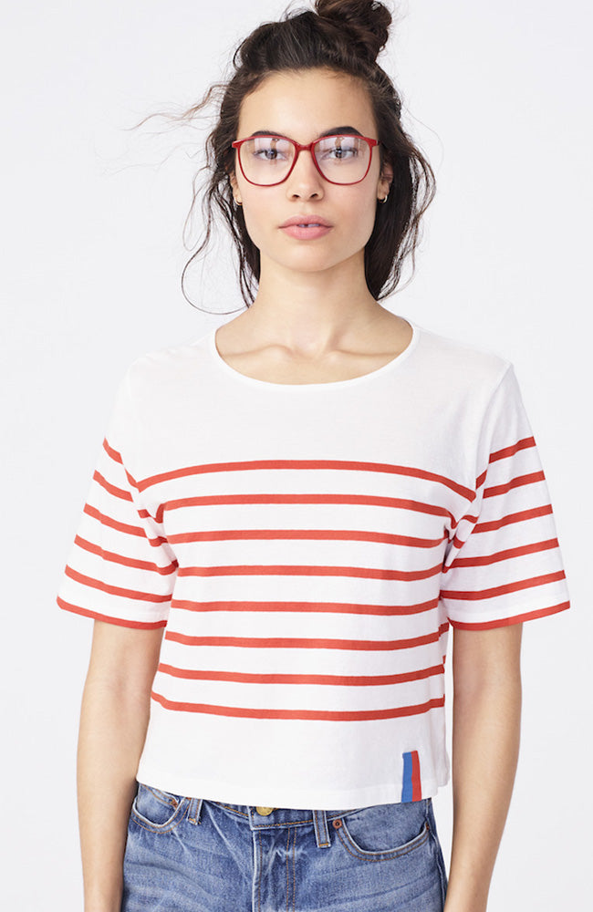The Crop Stripe Tee