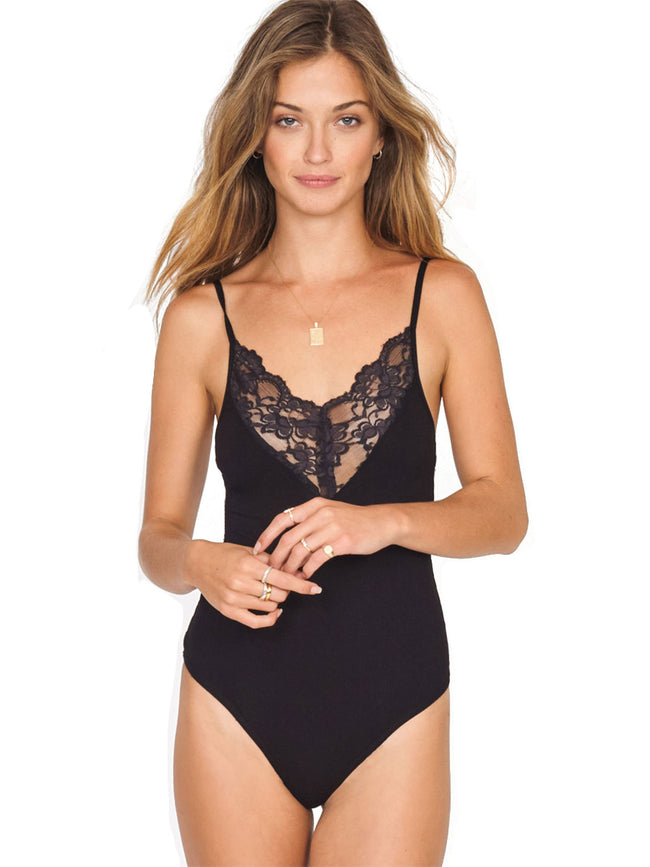 Amuse Society Give Me A Reason lace trim bodysuit