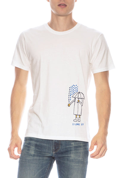The Art of Scribble Sun-Tech Rain T-shirt at Ron Herman