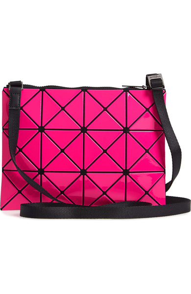 Bao Bao Issey Miyake Lucent Two-Tone Crossbody Bag in Red/Pink