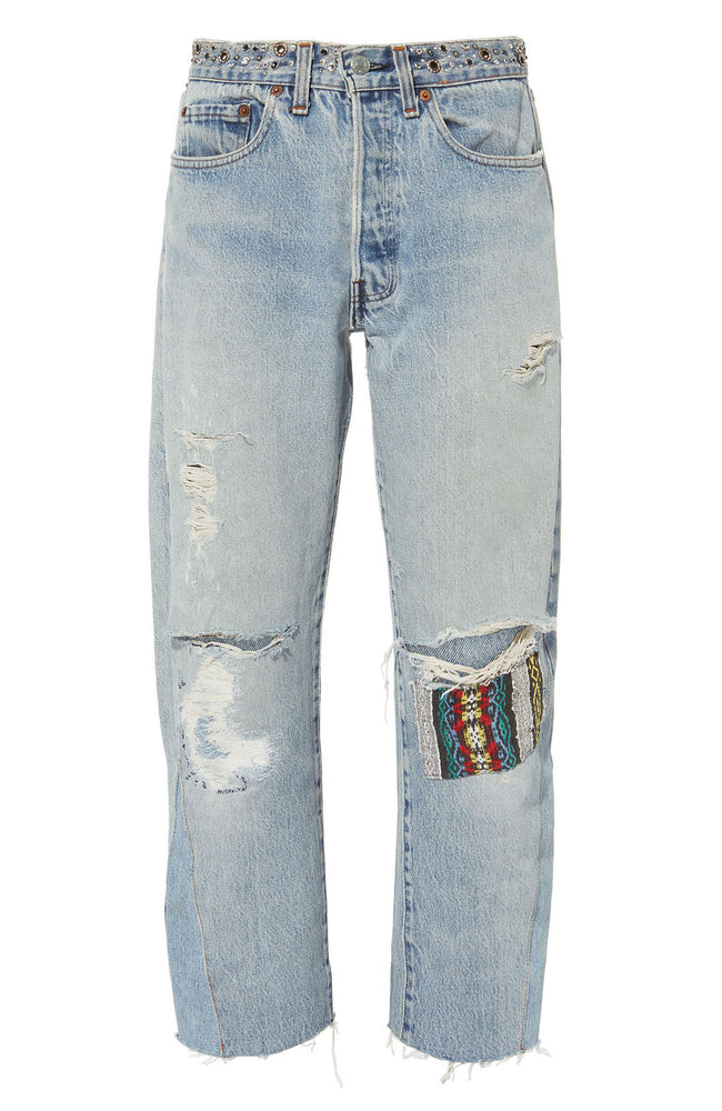 Bowie Studded Cropped Jeans