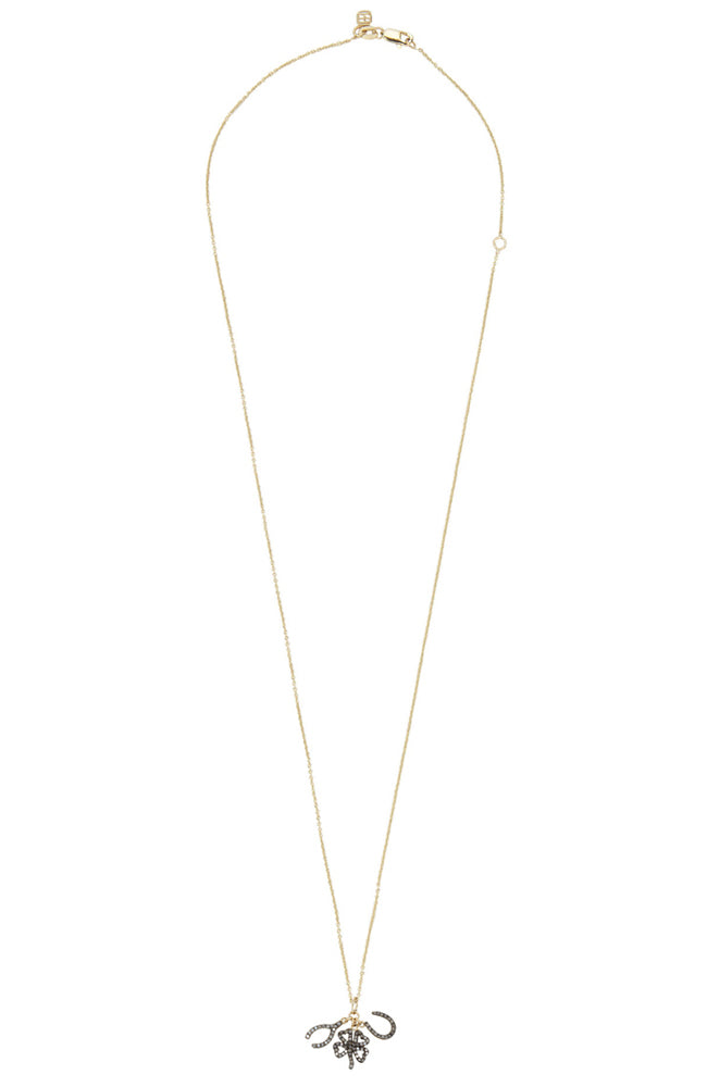 14K Diamond Lucky Trio Necklace