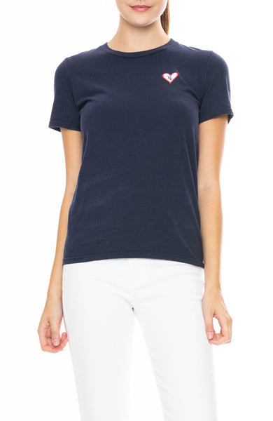 Ron Herman Exclusive Heart Patch T-Shirt in Navy