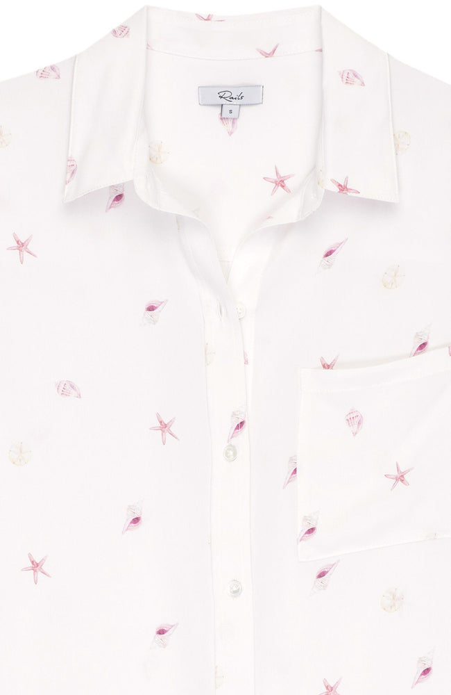 Whitney Silk Beach Side Shells Shirt