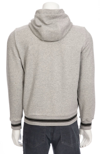 Sweatshirt with Quilted Nylon Front