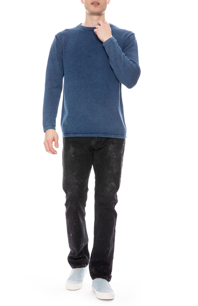 Denim Washed Crewneck Sweater