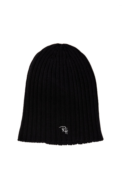 Ribbed Beanie with RH Initials