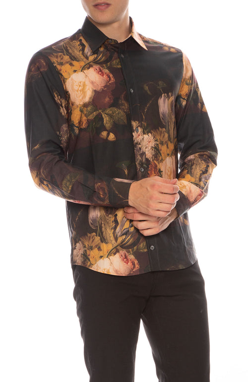Shields 25 Floral Button Down Shirt