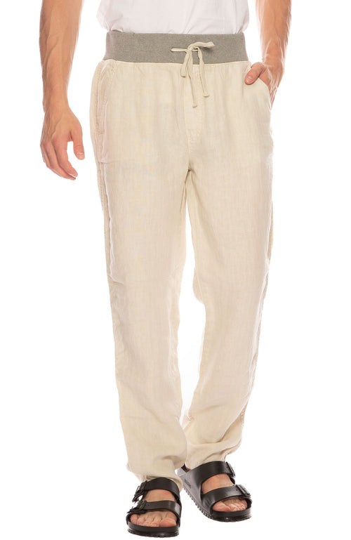 Key West Linen Pant with Knit Waist Band