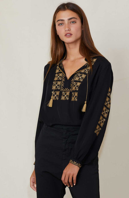 Karina Embroidered Top
