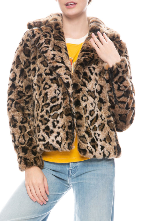 Faux Fur Rider Jacket