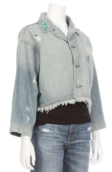 Embroidered Eye Denim Jacket