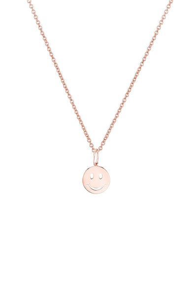 Small Pure Happy Face Charm Necklace