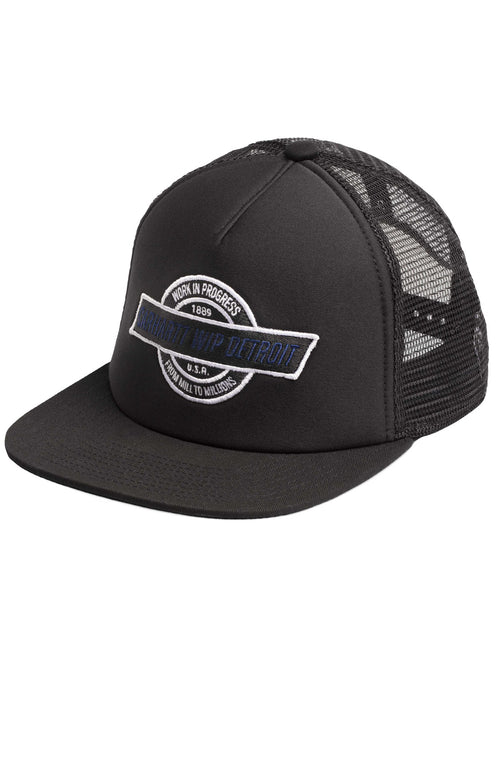 Carhartt WIP Mens Detroit Trucker Hat in Black / Black at Ron Herman