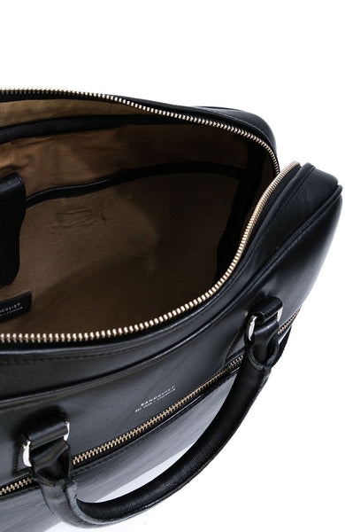 Sandqvist Dag Leather Briefcase in Black