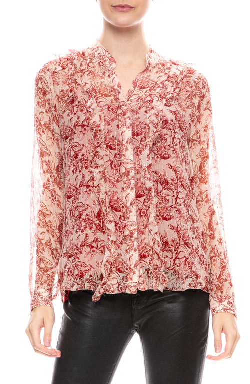 Nadine Ruffle Shoulder Blouse