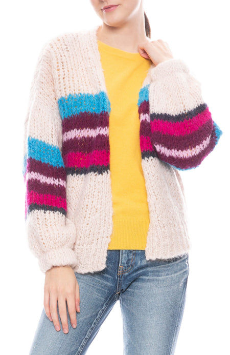 Izabel Chunky Stripe Open Cardigan