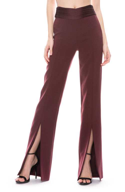 Crepe Back Side Slit Pant
