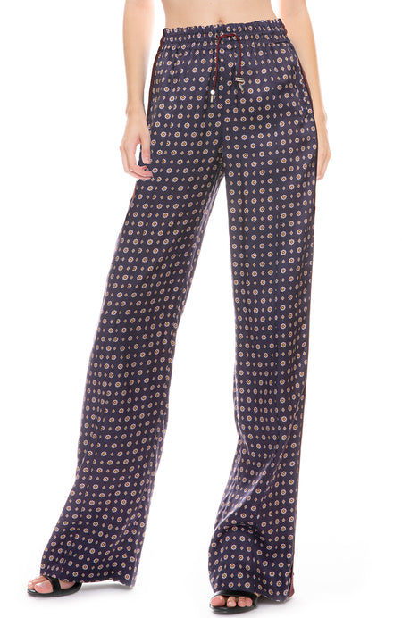 Scarf Print Track Pant