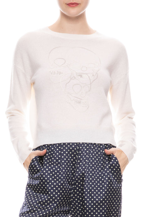 Jamie Skull Outline Sweater