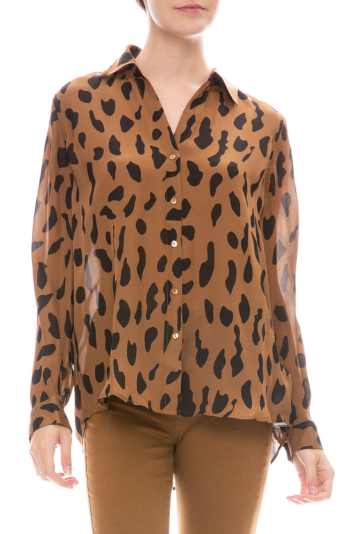 Nina Animal Print Blouse