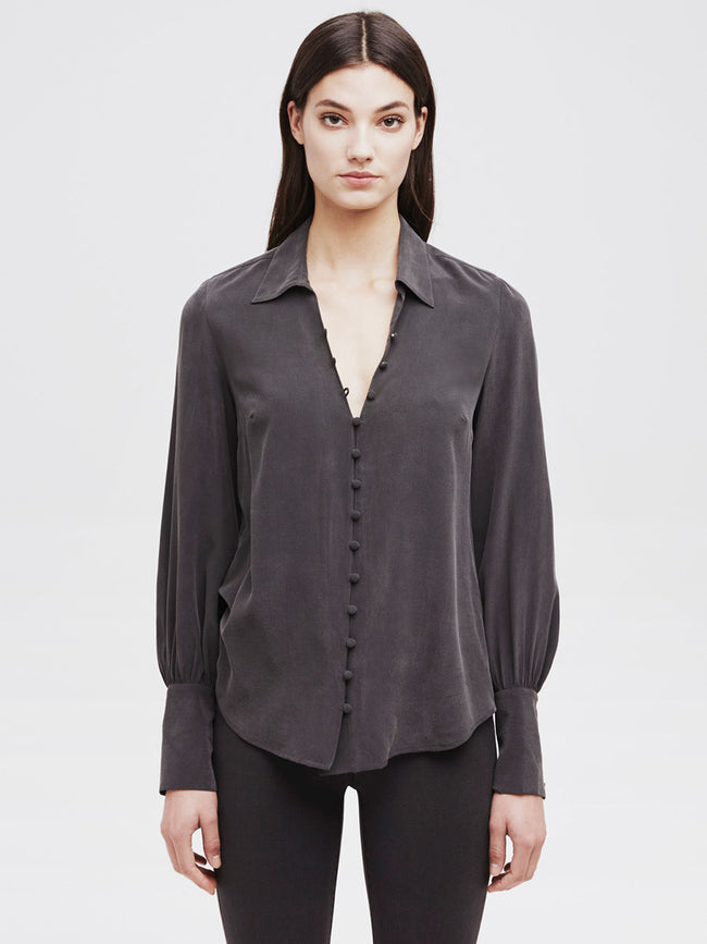 Naomi Button Front Blouse