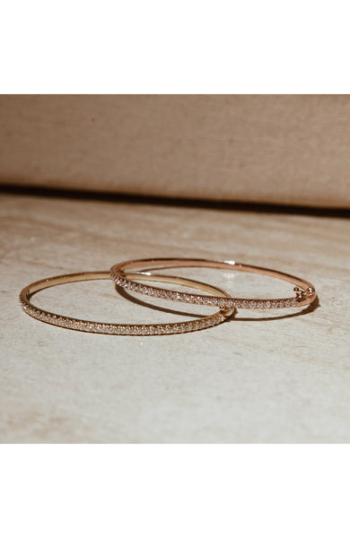 Carbon & Hyde Rose Gold Classic Diamond Bangle at Ron Herman