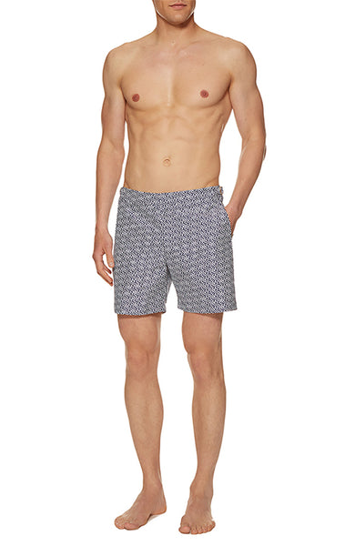 Bulldog Swim Shorts in Chain Print
