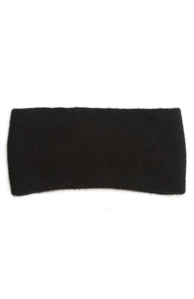 White + Warren Cashmere Crossover Headband in Black