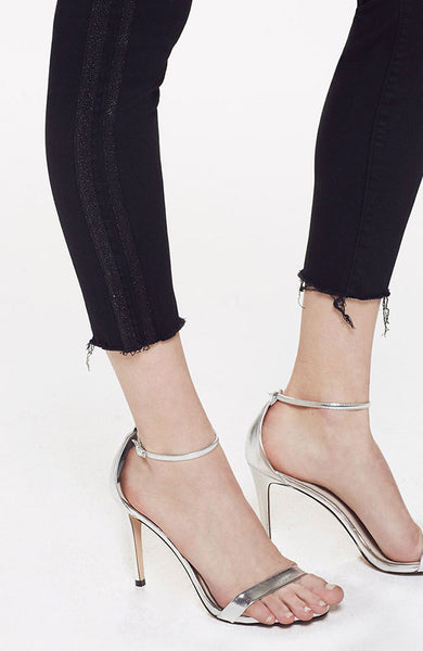 High Waisted Looker Ankle Fray in Guilty Party Racer