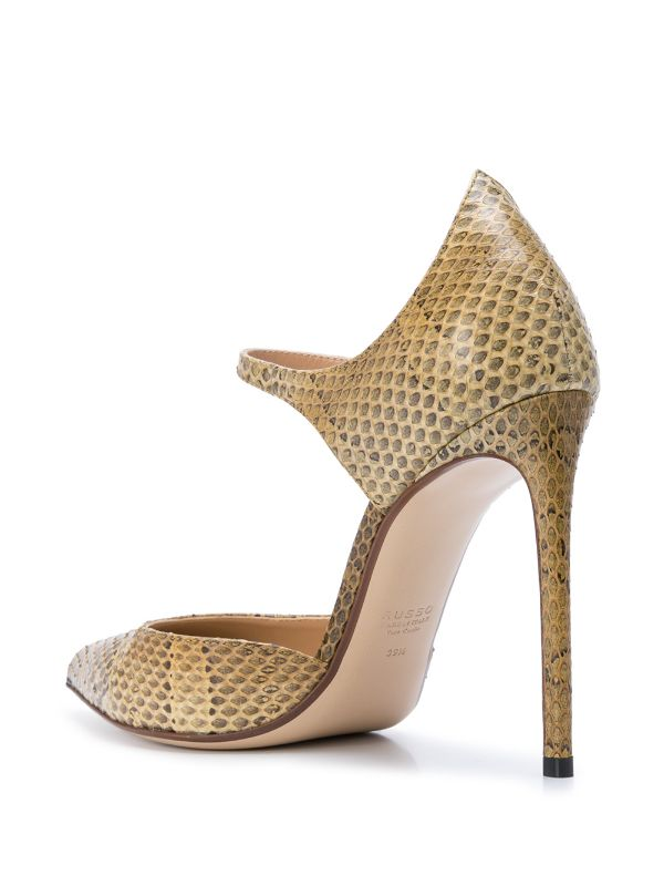 FRANCESCO RUSSO Leather Mary Jane Pumps