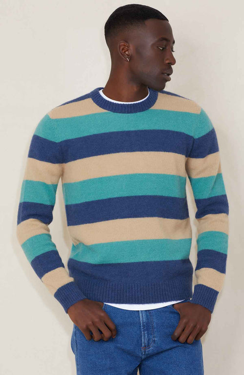 Propaganda Agency Trilogy Multi Stripe Crew Sweater