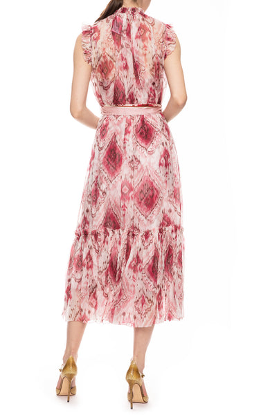 Wavelength Frill Silk Dress