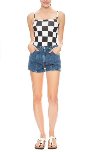 The Malibu Checkered One Piece