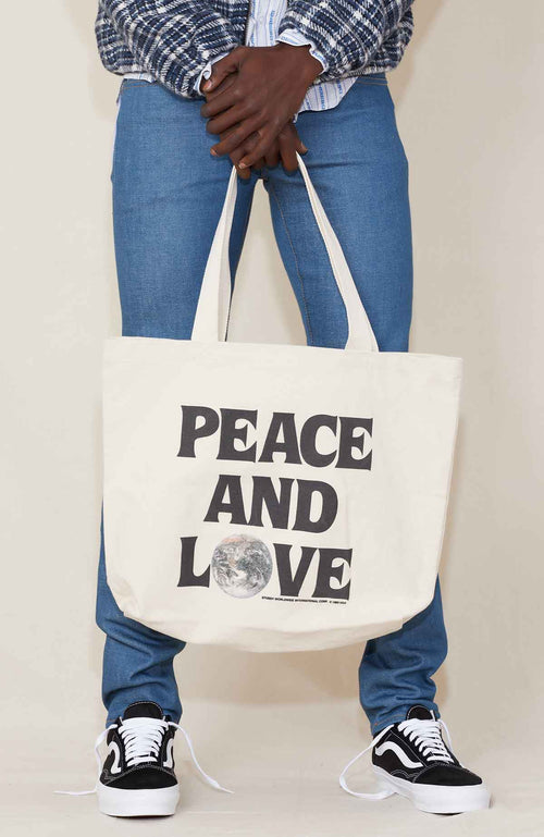 Stussy Peace N Love Canvas Tote
